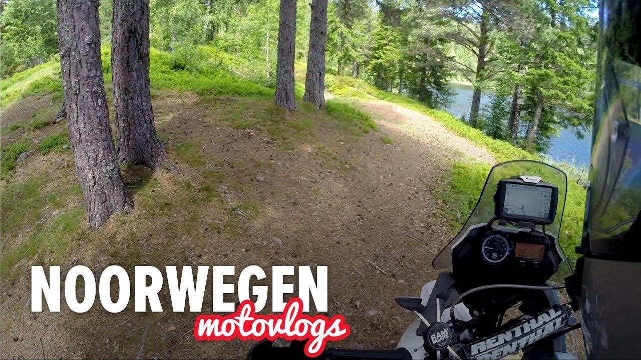 Motor avontuur in Noorwegen – Dag 1 | Gravelwegen, Wind & Kamperen