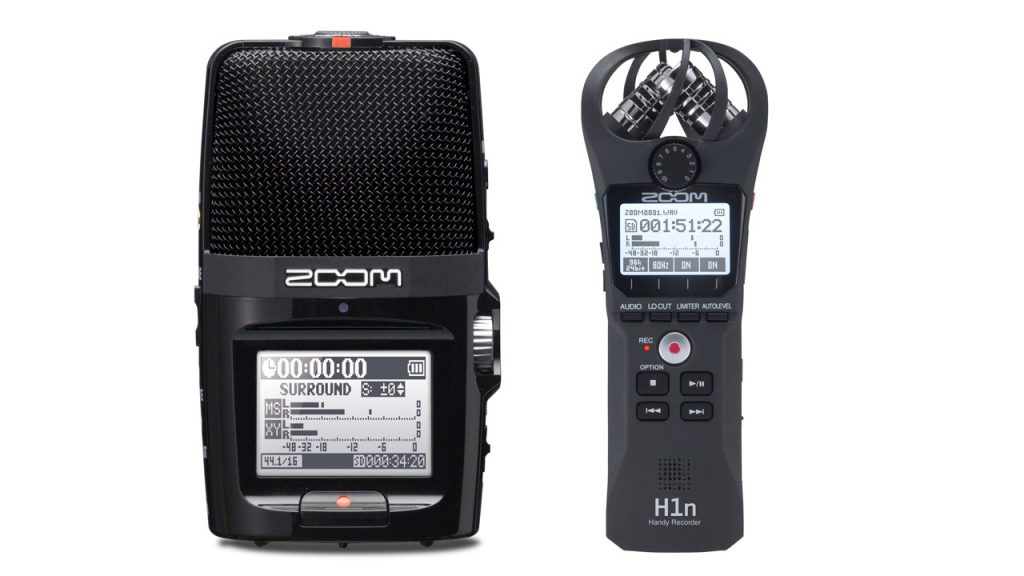Zoom H2n (links) en de Zoom H1n (rechts)