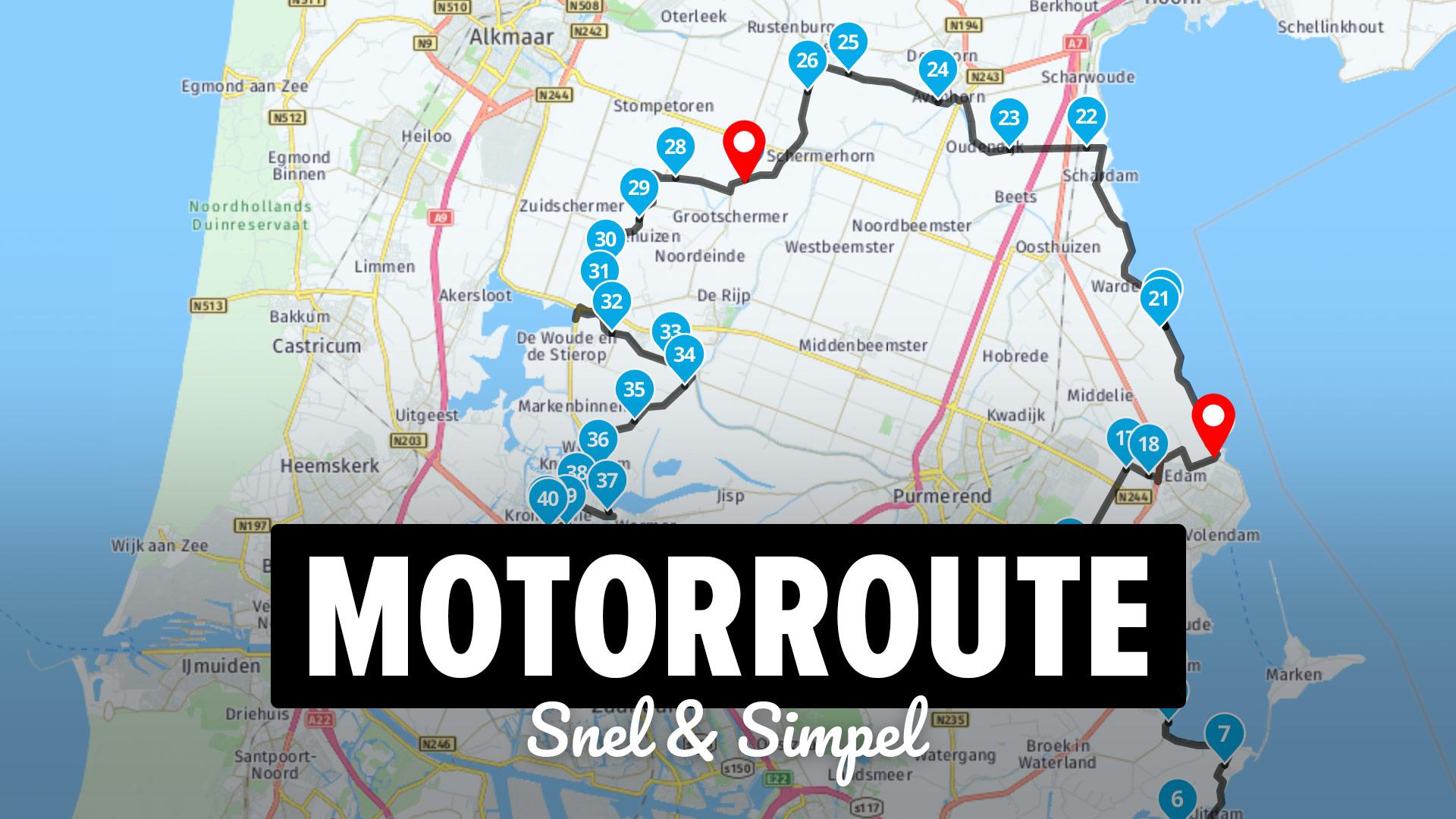 Hoe maak je een motorroute in MyRoute-App?